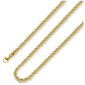 18k Real Gold Plated Chain Unisex